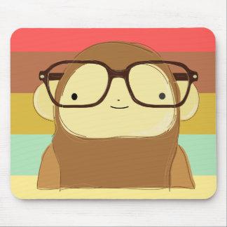 nerd monkey mouse pad