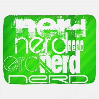 Nerd; Neon Green Stripes Baby Blanket