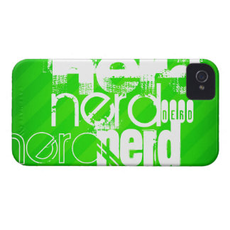 Nerd; Neon Green Stripes Case-Mate iPhone 4 Case