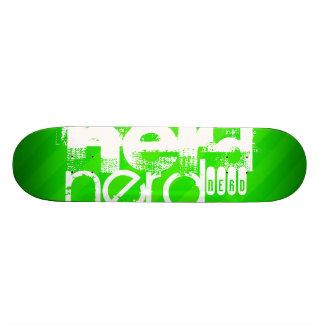 Nerd; Neon Green Stripes Skate Board Deck