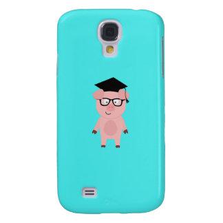 Nerd Pig with glasses Q1Q Galaxy S4 Case