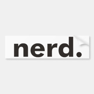 Nerd Products & Designs! Bumper Sticker