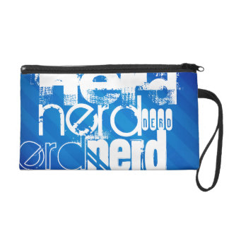 Nerd; Royal Blue Stripes Wristlet