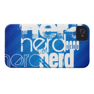 Nerd; Royal Blue Stripes iPhone 4 Case-Mate Cases