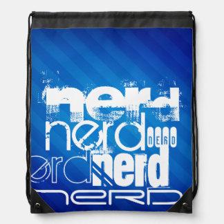 Nerd; Royal Blue Stripes Drawstring Backpack