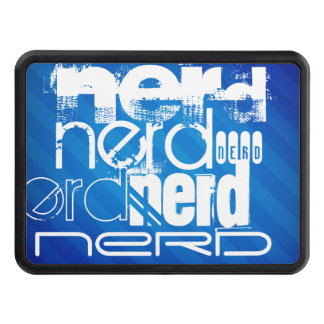Nerd; Royal Blue Stripes Tow Hitch Covers