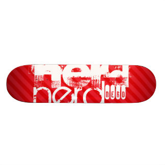 Nerd; Scarlet Red Stripes 18.1 Cm Old School Skateboard Deck