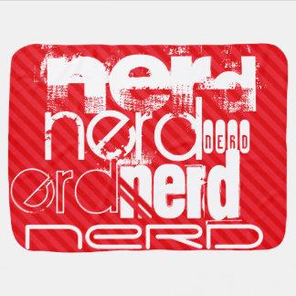 Nerd; Scarlet Red Stripes Buggy Blankets