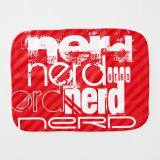Nerd; Scarlet Red Stripes Burp Cloths