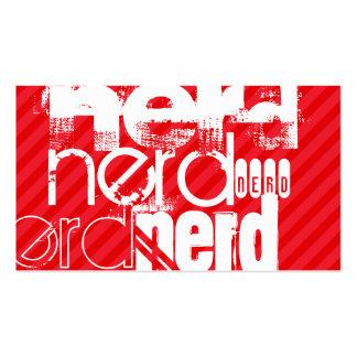 Nerd; Scarlet Red Stripes Pack Of Standard Business Cards