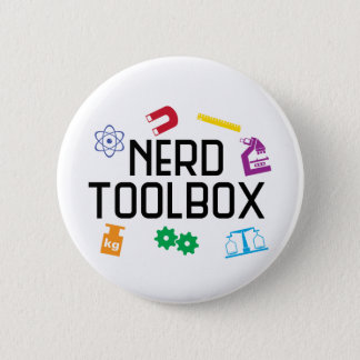 Nerd Toolbox 6 Cm Round Badge