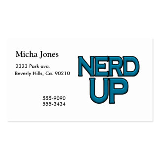 Nerd Up Pack Of Standard Business Cards