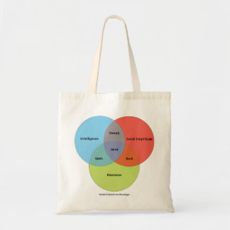 Nerd Venn Diagram Budget Tote Bag