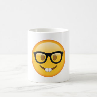 Nerd with Glasses - Emoji Coffee Mug