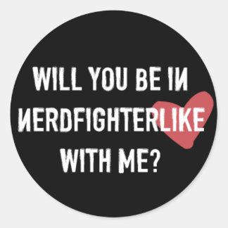 Nerdfighter Like: Black Round Sticker