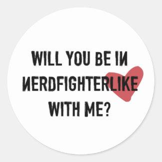 Nerdfighter Like: White Classic Round Sticker