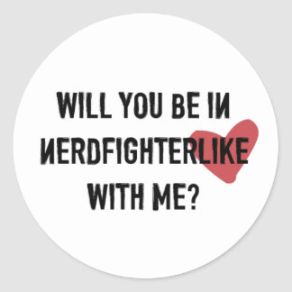 Nerdfighter Like: White Round Sticker