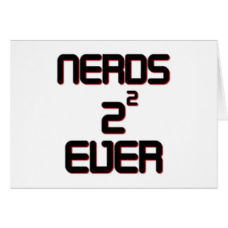 Nerds 4 Ever Greeting Card