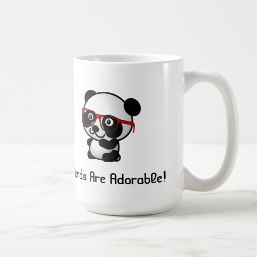 Nerds Are Adorable Cute Panda With Nerd Glasses Coffee Mugs