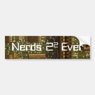 nerds bumper sticker