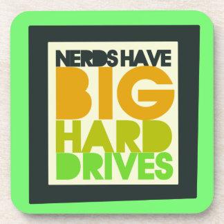 Nerds have big hard drives coaster