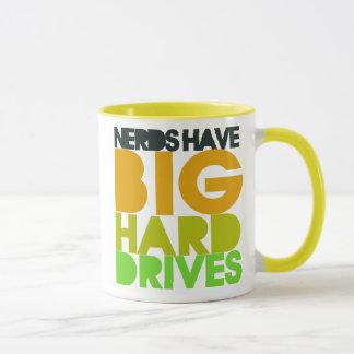Nerds have big hard drives mug
