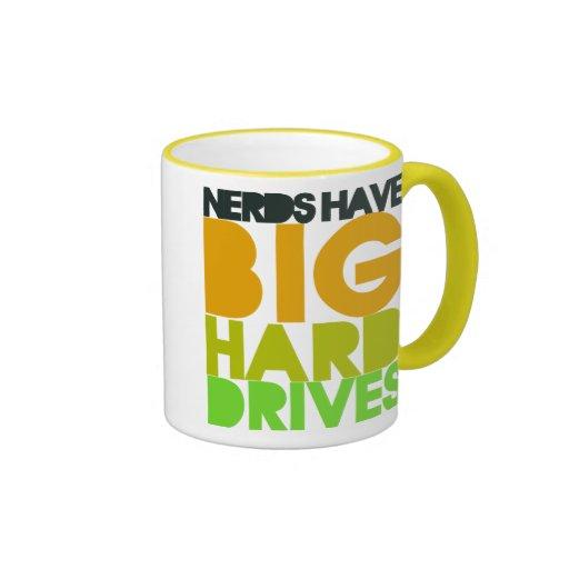 Nerds have big hard drives ringer mug