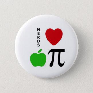 Nerds Love Apple Pie 6 Cm Round Badge