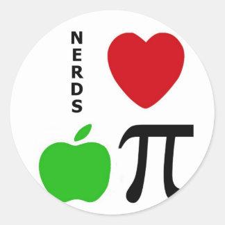 Nerds Love Apple Pie Classic Round Sticker
