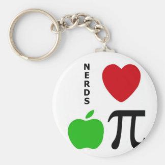 Nerds Love Apple Pie Key Ring