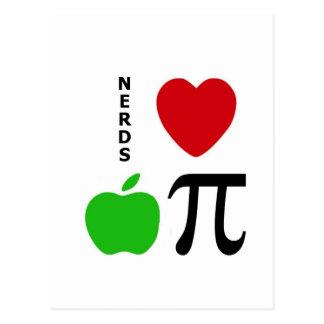Nerds Love Apple Pie Postcard