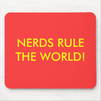 NERDS RULE THE WORLD! MOUSE PAD