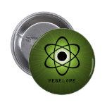 Nerdy Atomic Button, Green
