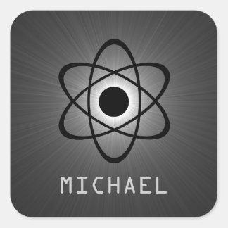 Nerdy Atomic Customizable Stickers, Gray