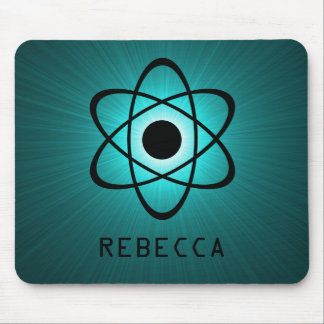 Nerdy Atomic Mousepad, Teal Mouse Pad