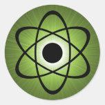 Nerdy Atomic Stickers, Green