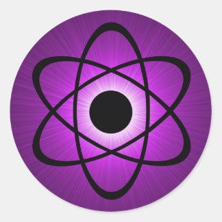 Nerdy Atomic Stickers, Purple