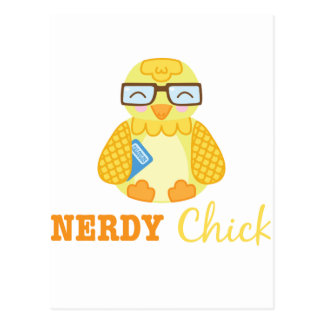 Nerdy Chick Postcard