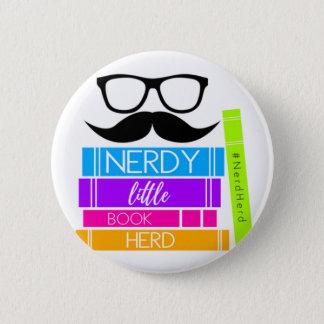 Nerdy Little Book Herd 6 Cm Round Badge
