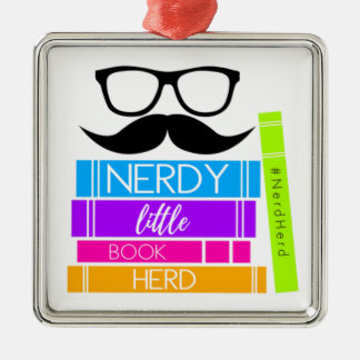 Nerdy Little Book Herd Christmas Ornament