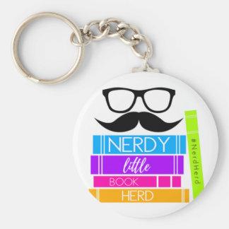 Nerdy Little Book Herd Key Ring