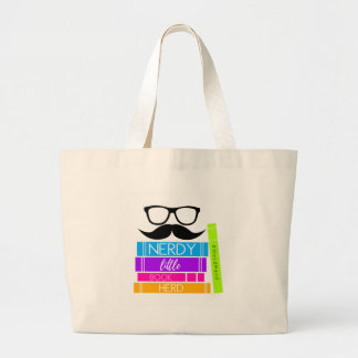 Nerdy Little Book Herd Large Tote Bag