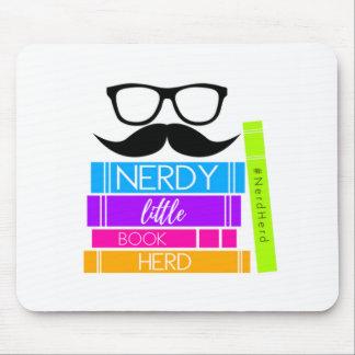 Nerdy Little Book Herd Mouse Mat