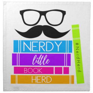 Nerdy Little Book Herd Napkin