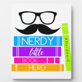 Nerdy Little Book Herd Plaque