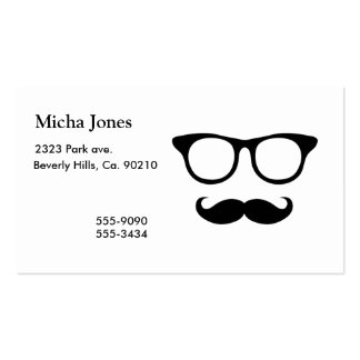 Nerdy Mustache Man Pack Of Standard Business Cards