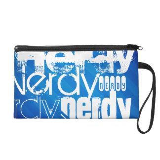Nerdy; Royal Blue Stripes Wristlet Purse