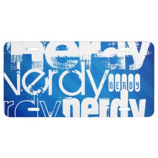 Nerdy; Royal Blue Stripes License Plate
