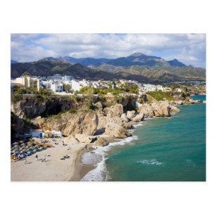 Nerja Coastline in Spain Postcard