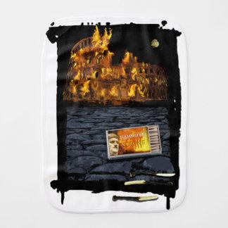 Nero burning Rome, with matches.. Burp Cloth